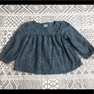 Baby Gap Girls Chambray Blouse size 12-18 mos.